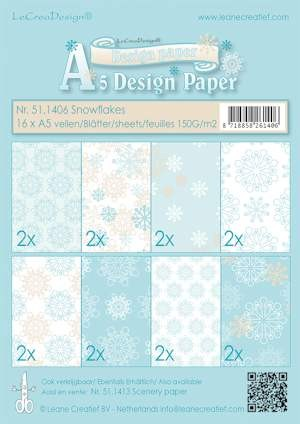 Design papier ass A5 snowflake blue