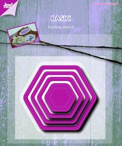 6002/0488 Joy! stencil basic Mery hexaganal