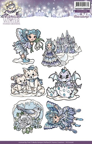 Clearstamp - Yvonne Creations - Magical winter