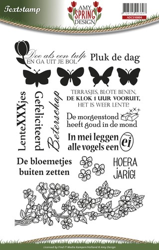 Clearstamp - Amy Design - Spring - Tekst