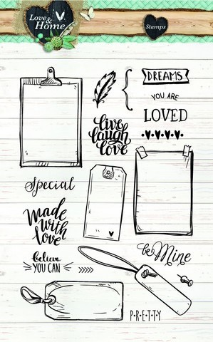 Studio Light Clearstempel A6 Love & Home 126