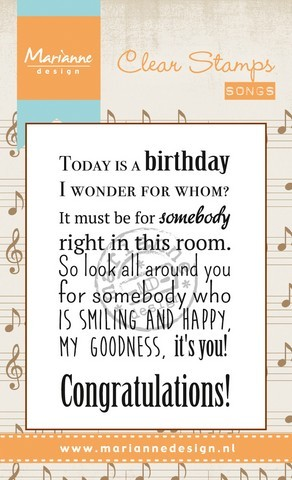 cs0965 Marianne D Stempel Song Today is a birthday (EN)