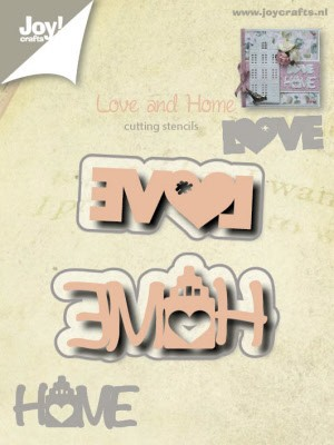 6002/0527 Snij stencil Love en Home