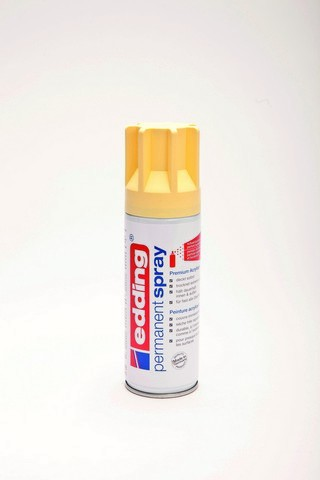 edding-5200 permanent spray pastelgeel  mat 200ml