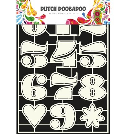 Dutch Doobadoo Dutch Stencil art  Numbers 2