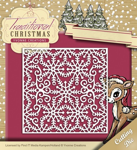 Die - Yvonne Creations - Traditional Christmas - Snowflake Frame