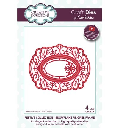 ced3078 Craft Dies Snowflake Filigree Frame