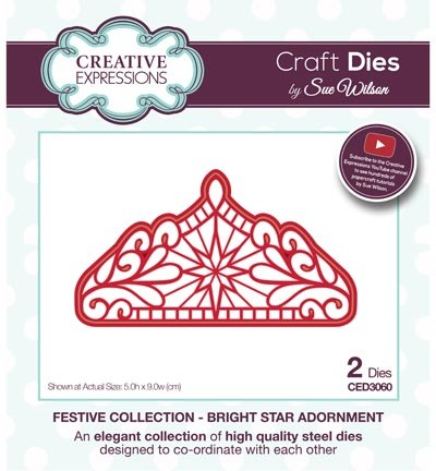 ced3060 Craft Dies Bright Star Adornment