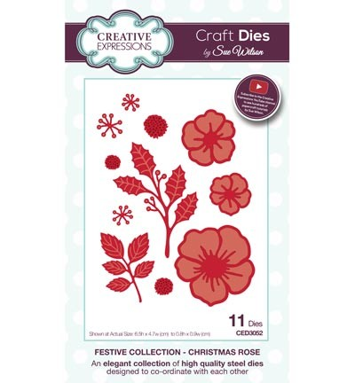 ced3052 Craft Dies Christmas Rose