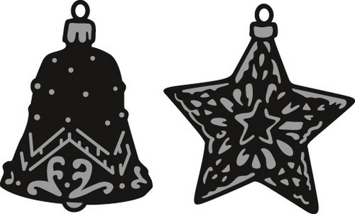 cr1382 Marianne D Craftable Tiny`s ornaments star & bell