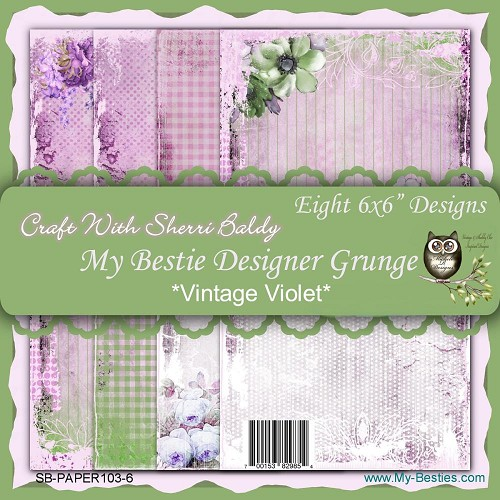 "Vintage Violet - My Besties Single-Sided Paper 6""X6"" 8/Pkg"