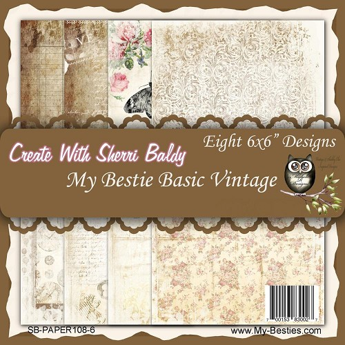 "Basic Vintage- My Besties Single-Sided Paper 6""X6"" 8/Pkg"