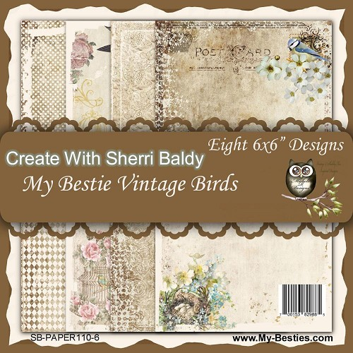 "Vintage Birds- My Besties Single-Sided Paper 6""X6"" 8/Pkg"