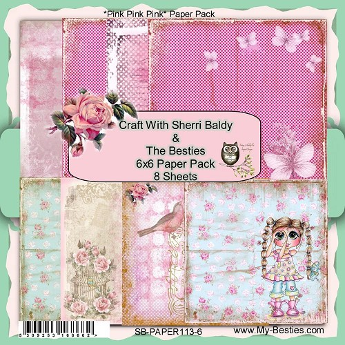 "Pink Pink Pink- My Besties Single-Sided Paper 6""X6"" 8/Pkg"