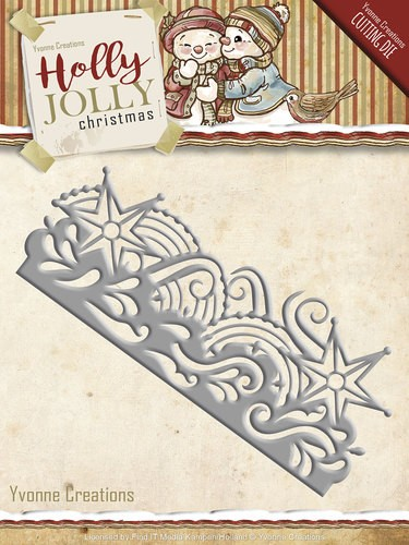 Die - Yvonne Creations - Holly Jolly - Snowflake Border