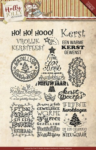 Clearstamp - Yvonne Creations - Holly Jolly - Tekst