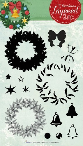 Studio Light Layered Clearstempel Christmas A5 nr 12