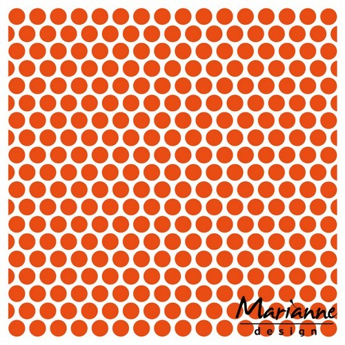 df3431 Marianne D Embossing folder Stippen 14,5x19 cm