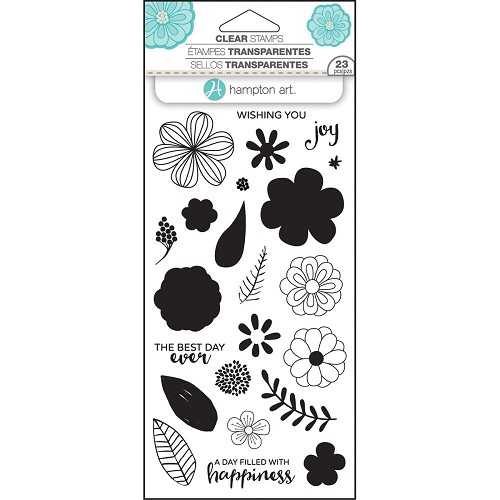 "Hampton Art Layering Clear Stamps 4""X8""Flower Joy"