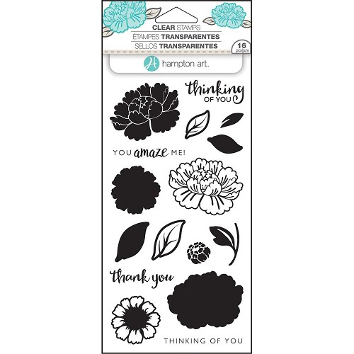 "Hampton Art Layering Clear Stamps 4""X8""Flower amaze"