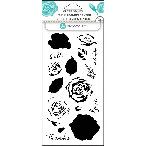 "Hampton Art Layering Clear Stamps 4""X8"" Roses"