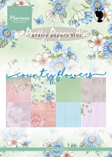 pk9144 Marianne D Paper pad Country flowers PK9144 15x21 cm