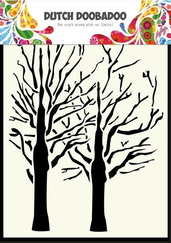 Dutch Doobadoo Dutch Mask Art stencil fine bomen A6