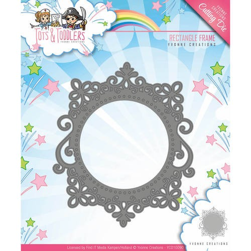 Die - Yvonne Creations - Tots and Toddlers - Rectangle Frame