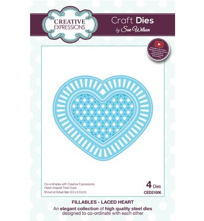 CED21006 The Fillables Collection laced heart