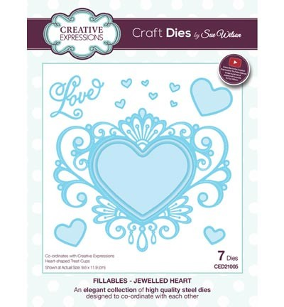 CED21005 The Fillables Collection jewelled heart