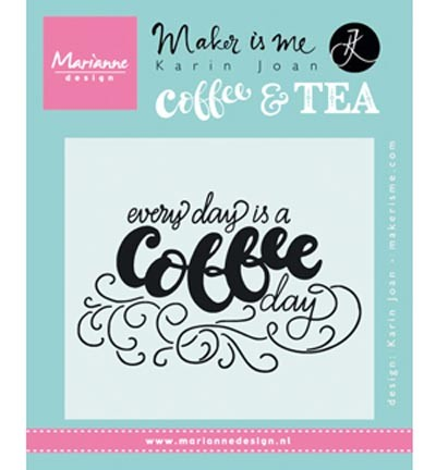 kj1708 Marianne D Stempel Quote - Every day is a coffee day
