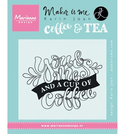 kj1709 Marianne D Stempel Quote - You & Me and a cup of coffee