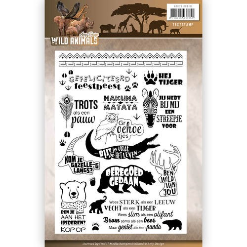 Clearstamp - Amy Design - Wild Animals Tekst