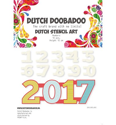 Dutch Stencils Art Stencil Art Numbers 0-9