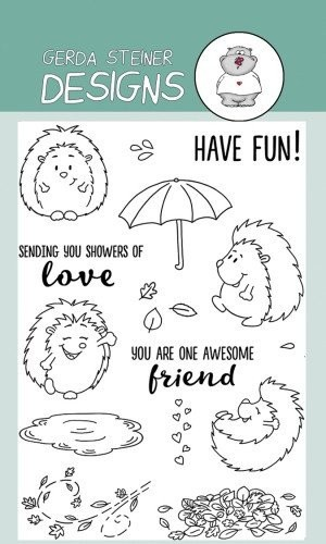 Cheerful Hedgehog 4x6 Clear Stamp Set