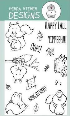 Happy Fall with Squirrel 4x6 Clear Stamp Set