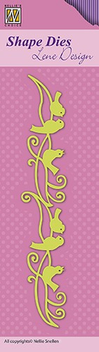 "Shape Dies Lene Design border ""birds"""