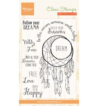 CS0989 Clearstamp Dreamcatcher sentiments