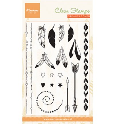 CS0990 Clearstamp Feathers