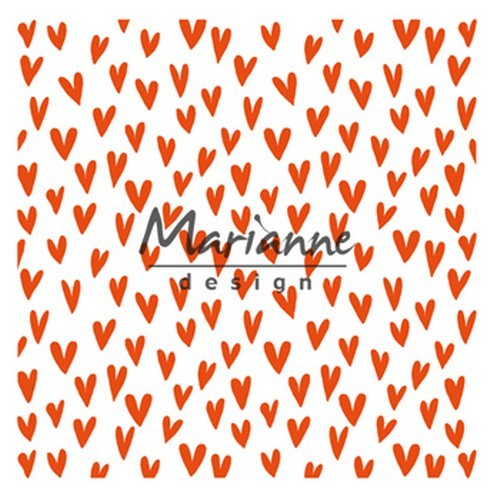 df3438 Marianne D Embossing folder Trendy hartjes