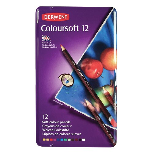 Derwent Coloursoft 12 st blik DCS0701026