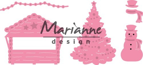 col1440 Marianne D Collectable Village decoratie set 5