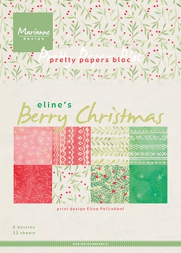 pb7053 Marianne D Paper pad Berry christmas