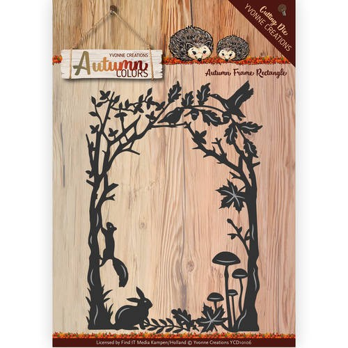 Die - Yvonne Creations - Autumn Colors- Frame rectangle