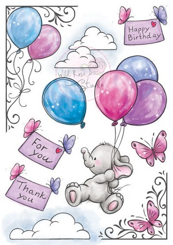 Wild Rose Studio`s A5 stamp set Bella AS001