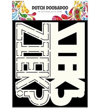 Dutch Shape Art Card Art Text `Ziek?`