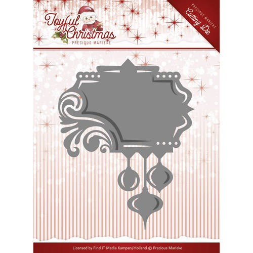 Die-Precious Marieke - Joyful Christmas - Label ornament