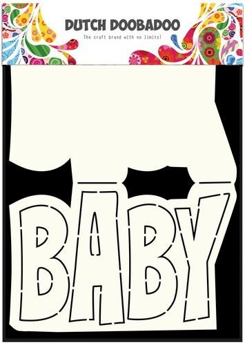 Dutch Doobadoo Dutch Card Art tekst Baby A5