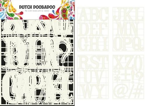 Dutch Doobadoo Dutch Stencil Art A-Z (4 stencils)