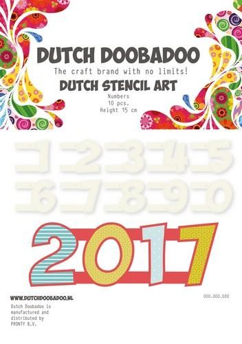 Dutch Doobadoo Dutch Stencil Art nummers 2 (0-9